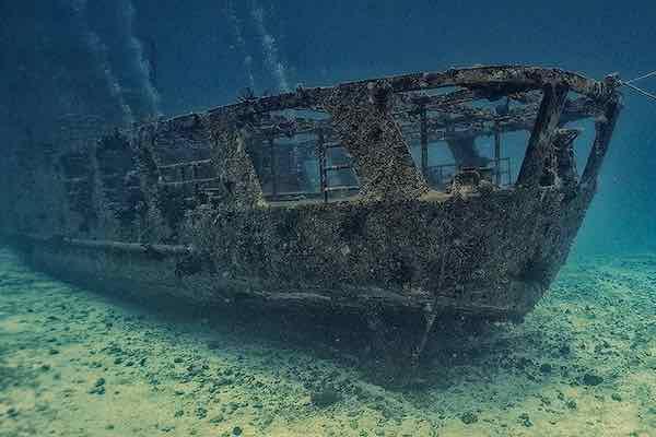 C-55 ship wreck back deck
